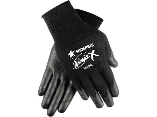 Memphis N9674XL Ninja X Bi-Polymer Coated Gloves, Extra Large, Black