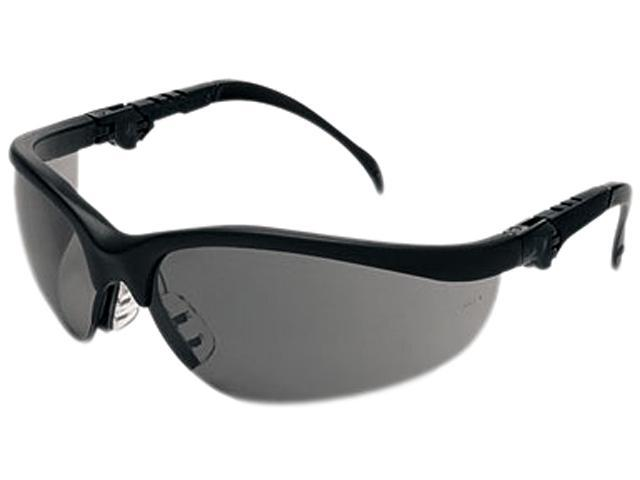 Crews KD312 Klondike Plus Safety Glasses, Black Frame, Gray Lens
