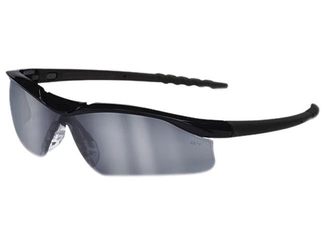 Crews DL119AF Dallas Wraparound Safety Glasses, Black Frame, Gray Indoor/Outdor Lens