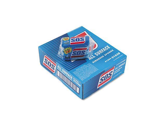 """Clorox 91028CT S.O.S All-Surface Scrubbing Sponge, 3 x 5-1/4, 1"""" Thick, 24/Carton"""