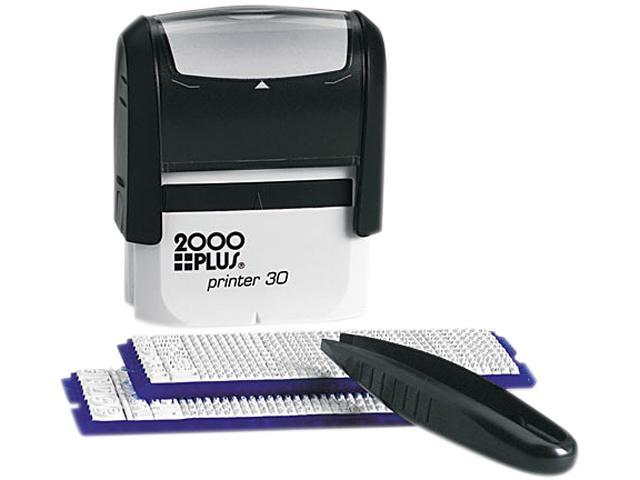 COSCO 030600 2000 PLUS Create-A-Stamp One-Color Address Kit, Custom Message, Black