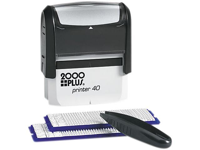 COSCO 026293 2000 PLUS Custom Stamp Kit with Microban, 5 Lines, Black, 2 5/16 x 7/8