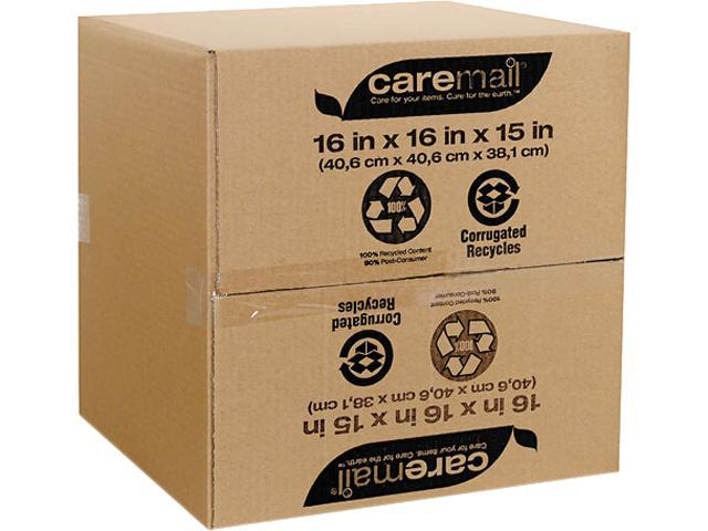 Caremail 1143585 100% Recycled Mailing Storage Box, Letter/Legal, Brown, 12/Pack