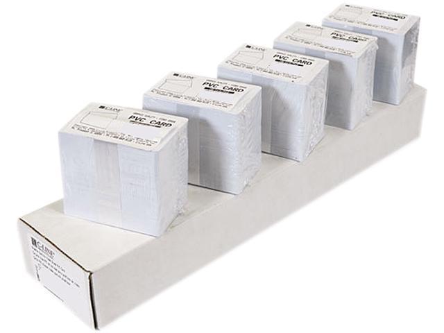 C-line 89007 PVC ID Badge Card, 3-3/8 x 2-1/8, White, 100/Pack