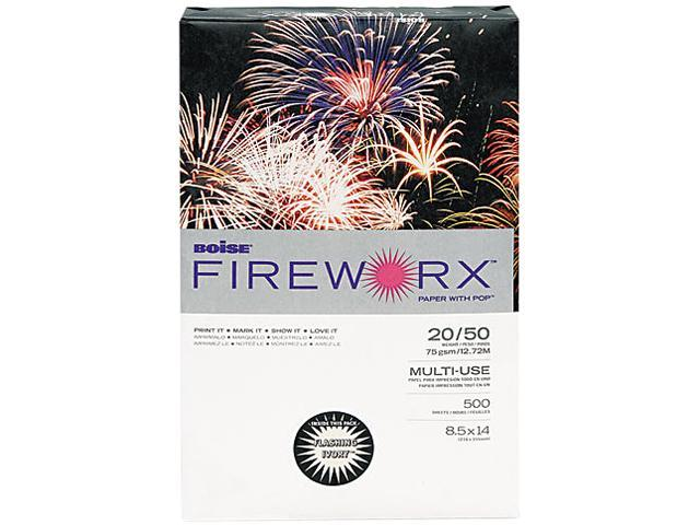 Boise MP2204IY FIREWORX Colored Paper, 20lb, 8-1/2 x 14, Flashing Ivory, 500 Sheets/Ream