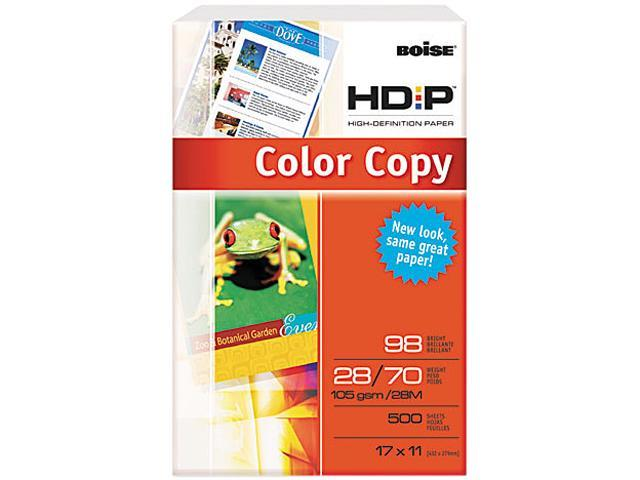 Boise BCP-2817 HD:P Color Copy Paper, 98 Brightness, 28lb, 11 x 17, White, 500 Sheets/Ream
