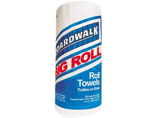 Boardwalk 6273 Perforated Roll Towels, White, 11 x 8 1/2, 2-Ply, 250/Roll, 12 Rolls/Carton