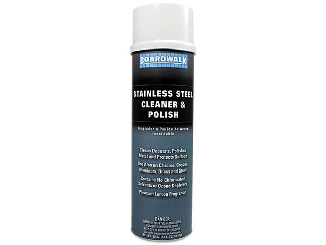 Boardwalk 347-A Stainless Steel Cleaner & Polish, Lemon, 18 oz. Aerosol Can