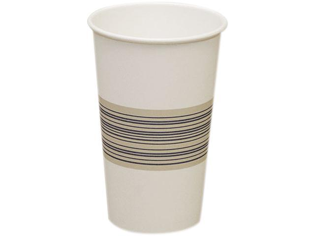 Boardwalk 16HOTCUP Paper Hot Cups, 16 oz., Blue/Tan, 20 Bags of 50, 1000/Carton