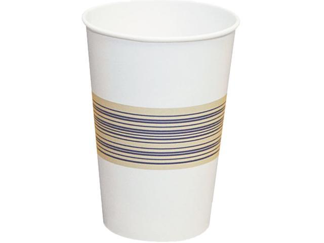 Boardwalk 12HOTCUP Paper Hot Cups, 12 oz., Blue/Tan, 20 Bags of 50, 1000/Carton