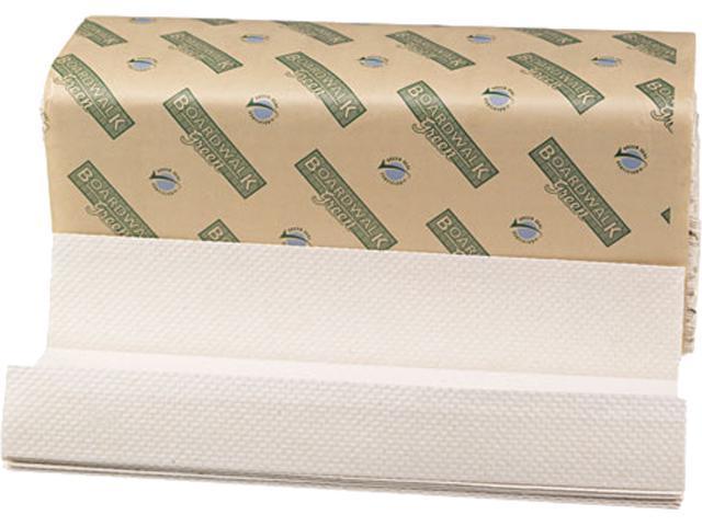 Boardwalk 11GREEN Green Folded Towels, C-Fold, Natural White, 10 1/8W x 13L, 150/Pack, 16/Carton