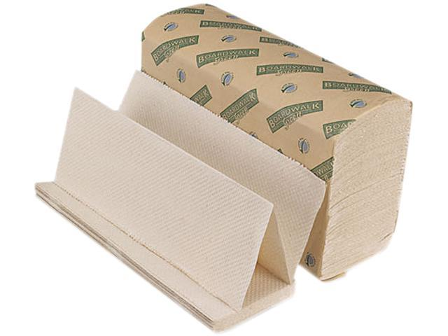 Boardwalk 10GREEN Green Folded Towels, Multi-Fold, Natural White, 9 1/8 x 9 1/2, 200/Pack, 20/Ctn
