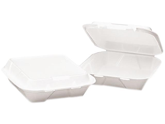Boardwalk 0108 Snap-it Foam Hinged Lid Carryout Containers,3-Compartment, 8x8x3, WE, 200/Carton
