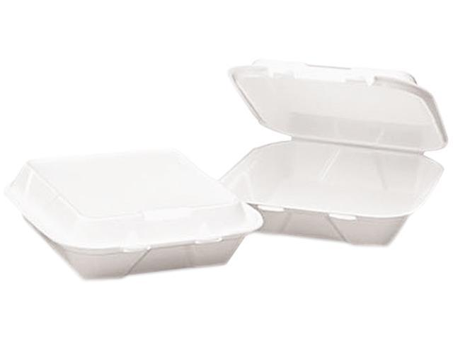 Boardwalk 0101 Snap-it Foam Hinged Lid Carryout Containers, 3-Comp, 9.25x9.25x3, WE, 200/Carton