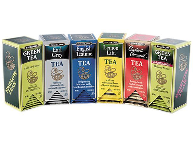 Bigelow 15577 Assorted Tea Packs, Six Flavors, 28 Tea Bags/Flavor, 168/Carton