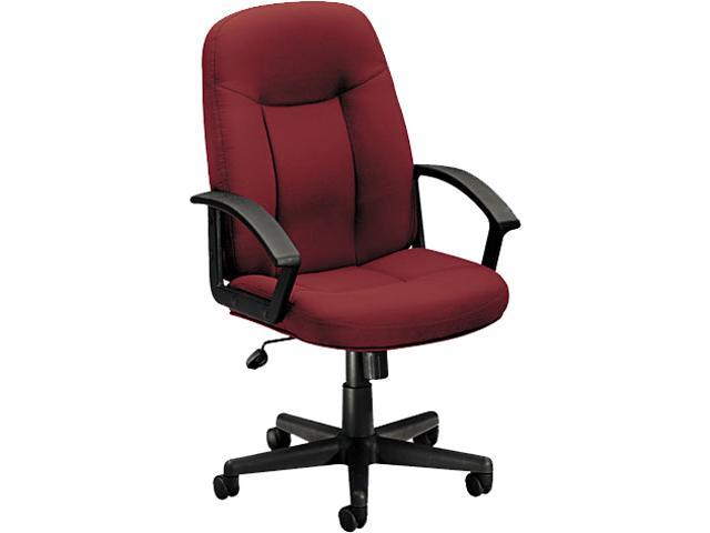 basyx VL601VA62 VL601 Series Mid-Back Swivel/Tilt Chair, Metal, 26w x 33-1/2d x 43h, Burgundy