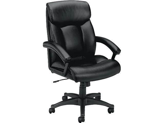 basyx VL151SB11 VL151 Executive High-Back Chair, Black Leather