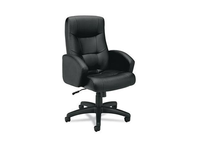 basyx VL121EN11 VL121 Executive High-Back Chair, Black Vinyl