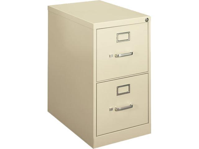 basyx H412PL H410 Series Two-Drawer Locking Vertical File, 15w x 22d x 26-1/16h, Putty