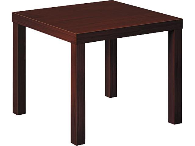 basyx BLH3170N Laminate Occasional Table, 24w x 24d x 20h, Mahogany
