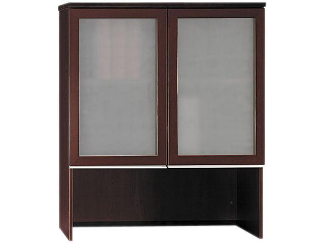Bush 50HS36CS Milano² Collection Bookcase Hutch With Glass Doors, Harvest Cherry