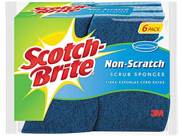 Scotch-Brite 526 No Scratch Multi-Purpose Scrub Sponge, 4 2/5 x 2 3/5
