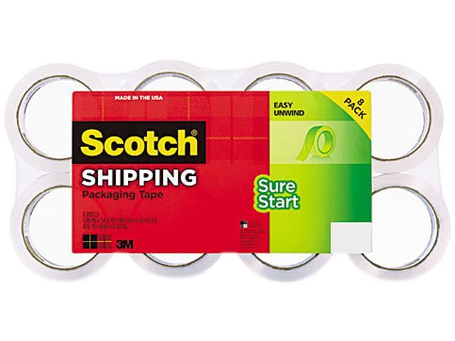 Scotch 3450-8 Sure Start Packaging Tape, 1.88