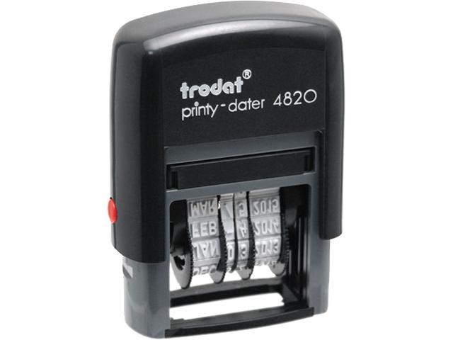 Trodat E4820 Trodat Economy Stamp, Dater, Self-Inking, 1 5/8 x 3/8, Black