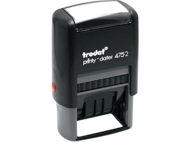 Trodat E4752 Trodat Economy Stamp, Dater, Self-Inking, 1 5/8 x 1, Blue/Red