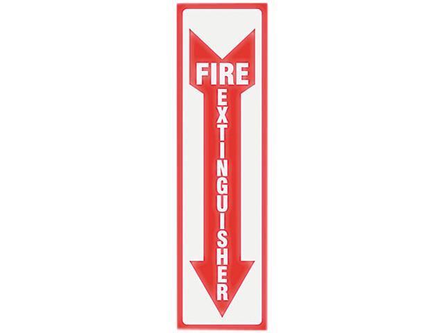 Headline Sign 4793 Glow In The Dark Sign, 4 x 13, Red Glow, Fire Extinguisher