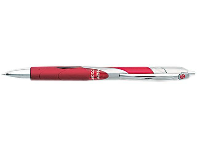BIC RTR7711RD Triumph 730RT Roller Ball Retractable Gel Pen, Red Ink, Medium