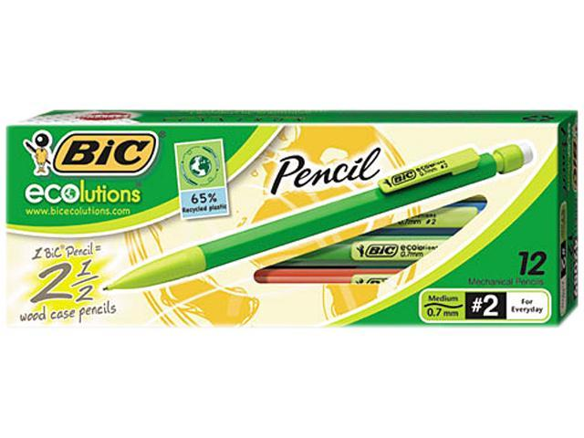 BIC MPE11 Ecolutions Mechanical Pencil, 0.7mm, 12 per Pack