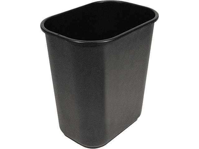 UNISAN 28QTWBBLA Soft-Sided Wastebasket, 28 qt, Black