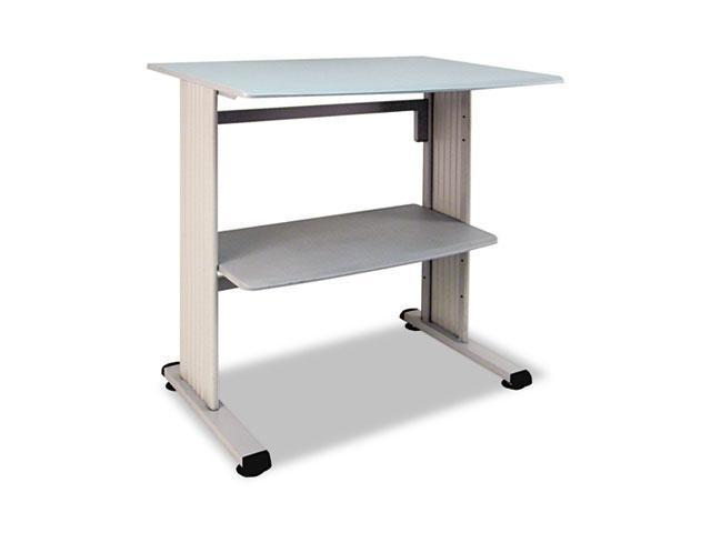 Buddy Products Stand-Up Height Workstation, 36-3/4w x 26-1/2d x 39-3/4h, Gray