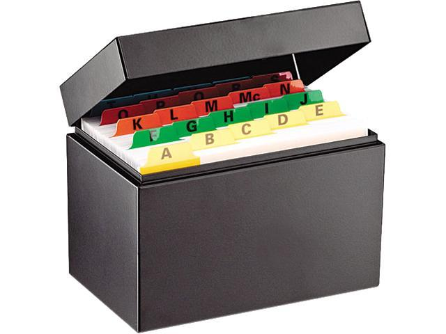 STEELMASTER by MMF Industries 263644BLA Index Card File Holds 400 4 x 6 cards, 6 3/4 x 4 1/5 x 5