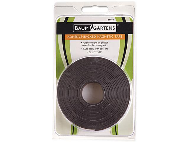 Adhesive-Backed Magnetic Tape Black 1/2