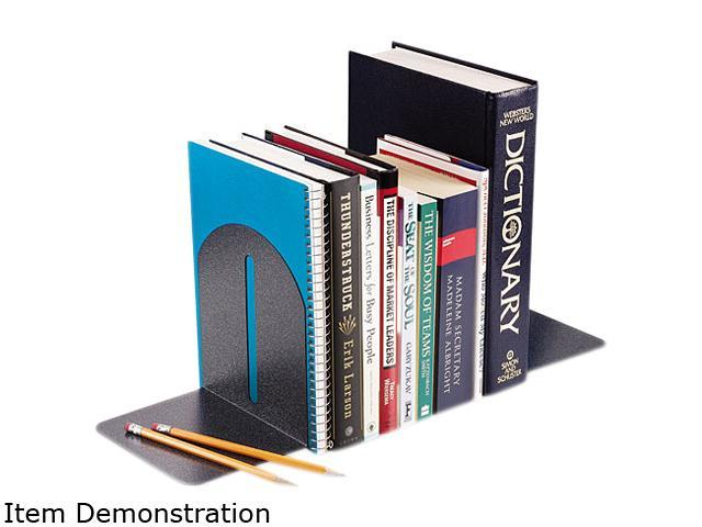 STEELMASTER by MMF Industries 2410171A3 Fashion Bookends, 9 x 5 x 7, Granite, Pair