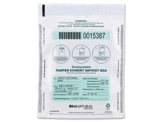 MMF Industries 236211320 Bio-Natural Bags, 9 x 12, Clear, 100/Box