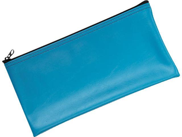 MMF Industries 2340416W38 Leatherette Zippered Wallet, Leather-Like Vinyl, 11w x 6h, Marine Blue