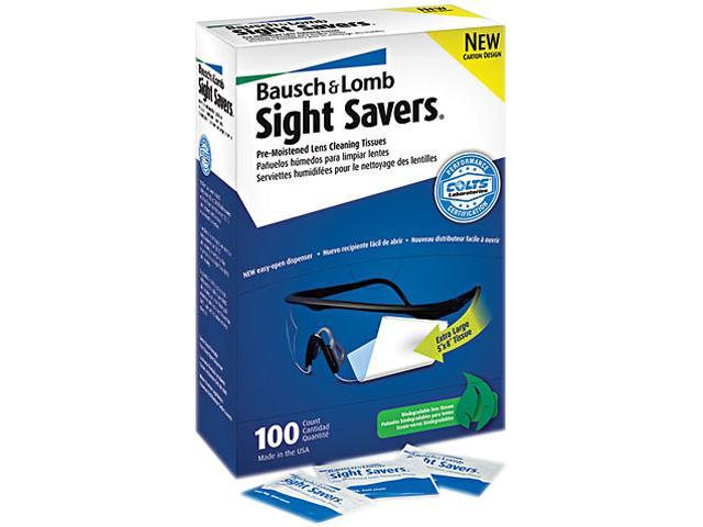 Bausch & Lomb 8574GM Sight Savers Premoistened Lens Cleaning Tissues, 100 Tissues/Box