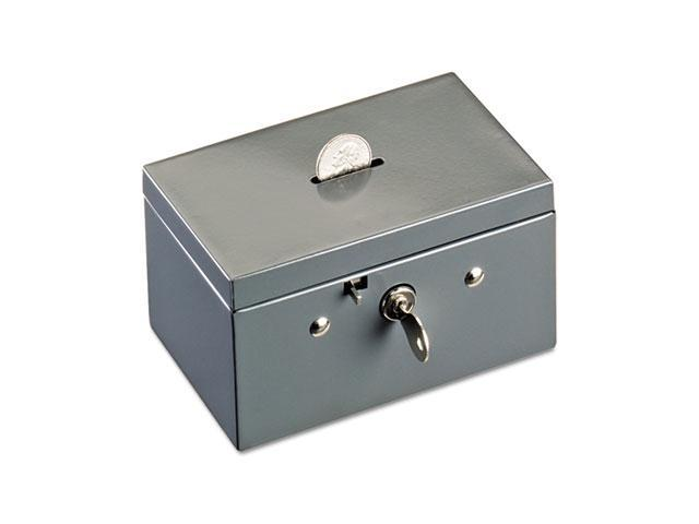 STEELMASTER by MMF Industries 221533001 Small Cash Box with Coin Slot, Disc Lock, Gray