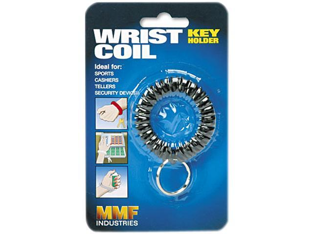 STEELMASTER by MMF Industries 201450004 Wrist Coil w/Key Ring, Flexible Coil, Black