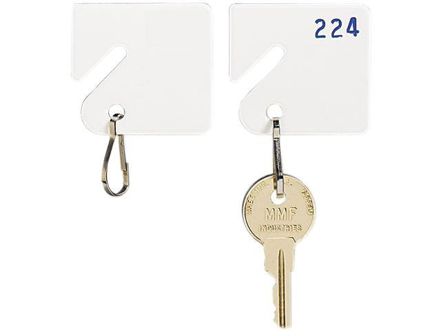 MMF Industries 201300006 Slotted Rack Key Tags, Plastic, 1-1/2 x 1-1/2, White, 20/Pack