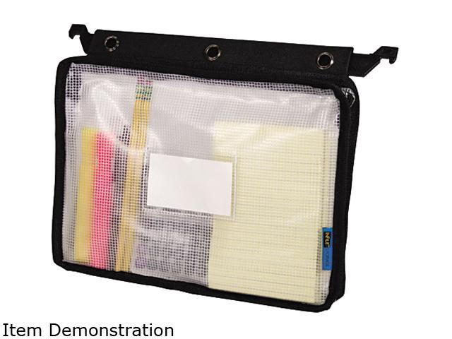 Advantus 50904 Expanding Zipper Pouch, 8-1/2 x 11, Clear/Black