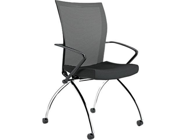 Mayline TSH1BB Valoré Series High-Back Nesting Chair, Mesh/Fabric, Black, 2/Carton