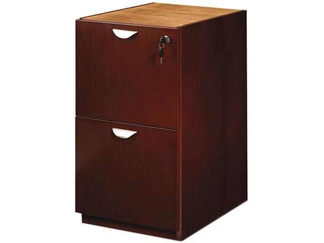 Mayline MPFF28MC Mira Series File/File Desk Pedestal, 15w x 28d x 27¾h, Medium Cherry
