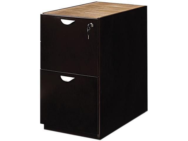 Mayline MPFF28ESP Mira Series File/File Desk Pedestal, 15w x 28d x 27¾h, Espresso