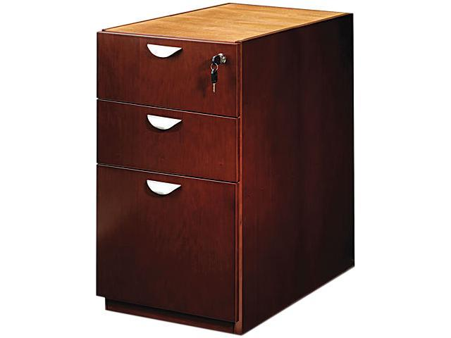 Mayline MPBBF28MC Mira Series Box/Box/File Desk Pedestal, 15w x 28d x 27¾h, Medium Cherry