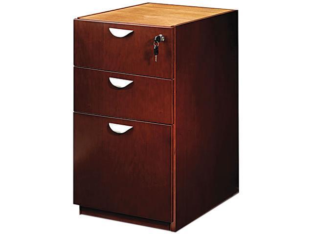 Mayline MPBBF22MC Mira Series Box/Box/File Credenza Pedestal, 15w x 28d x 27¾h, Medium Cherry
