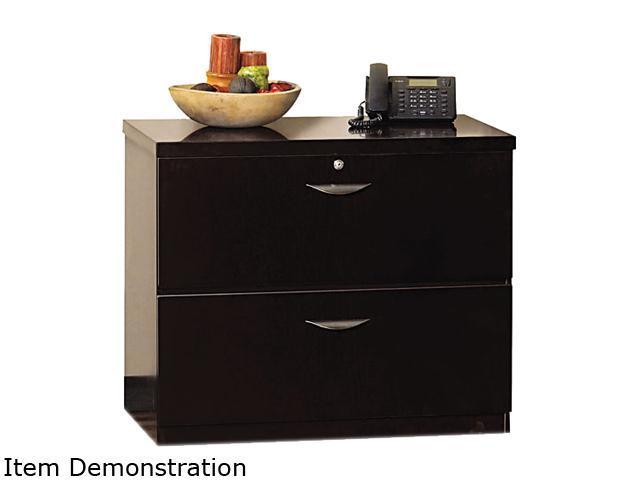 Mayline MLF23624ESP Mira Series Wood Veneer 2-Drawer Lateral File, 34¾w x 24d x 29½h, Espresso